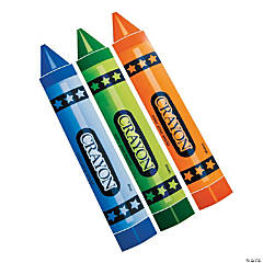Giant Crayon Cutout Assortment