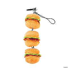 Plush Hamburger Cell Phone Screen Cleaner Charm