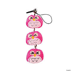 Plush Owl Cell Phone Screen Cleaner Charm