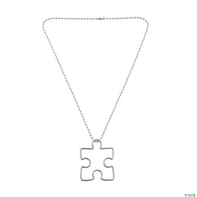 Autism Awareness Puzzle Piece Necklaces