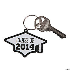 """Class of 2014"" Graduation White Key Chains"