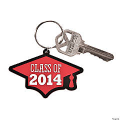 """Class of 2014"" Graduation Red Key Chains"