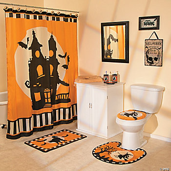 halloween silhouette bath collection terry 39 s village holiday decor