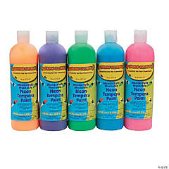 Neon Tempera Paint Assortment