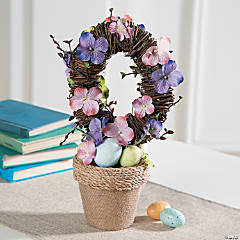 Potted Easter Wreath