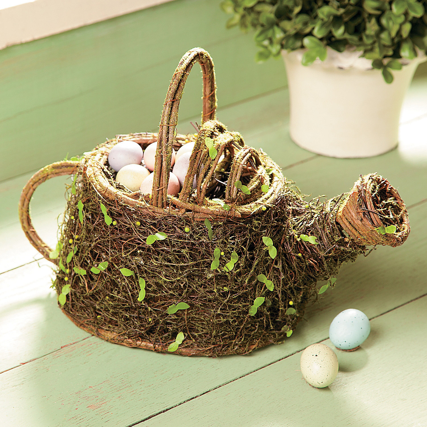 Bird Nest Watering Can Party Supplies Decorative Accents