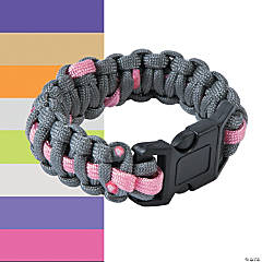 Large Awareness Ribbon Paracord Bracelets