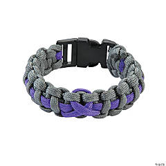 Large Purple Awareness Ribbon Paracord Bracelets