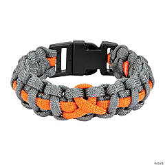 Large Orange Awareness Ribbon Paracord Bracelets