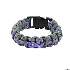 Large Lavender Awareness Ribbon Paracord Bracelets