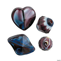 Crystal Shaped Bead Mix - 7mm - 15mm