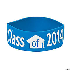 Class of 2014 Graduation Blue Big Band Bracelets