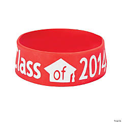 Class of 2014 Graduation Red Big Band Bracelets