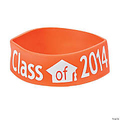 Class of 2014 Graduation Orange Big Band Bracelets
