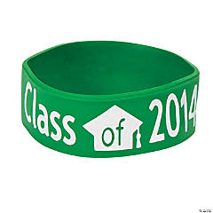 Class of 2014 Graduation Green Big Band Bracelets