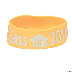 Yellow Class of 2014 Big Band Bracelets