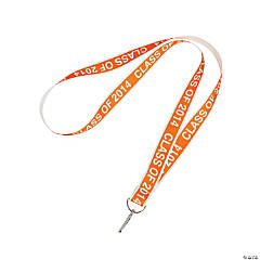 Class of 2014 Graduation Orange Lanyards