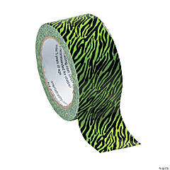 Neon Green Zebra Duct Tape