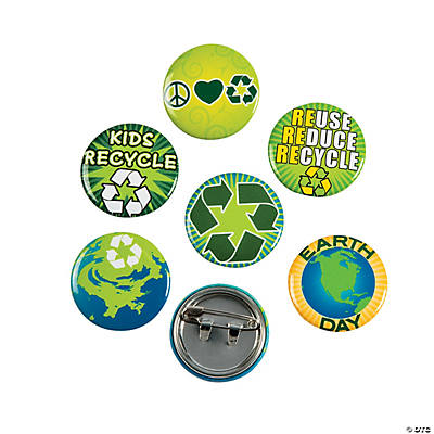 Earth Day/Recycle Mini Buttons