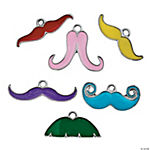 Colorful Mustache Charms Assortment
