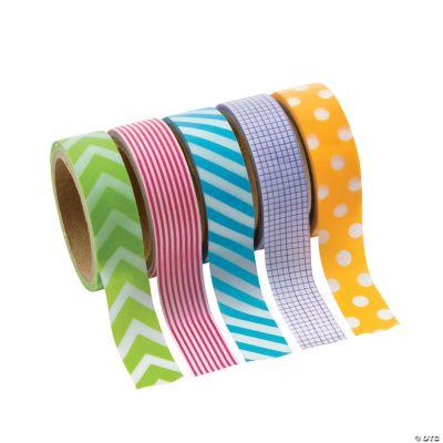 Primary Patterned Washi Tape Set