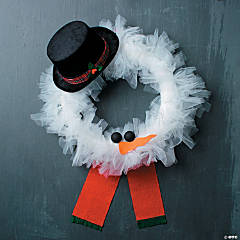 DIY Christmas Character Wreath Idea