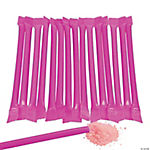 Hot Pink Candy-Filled Straws