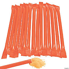 Orange Candy-Filled Straws
