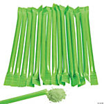 Lime Green Candy-Filled Straws