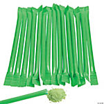Green Candy-Filled Straws