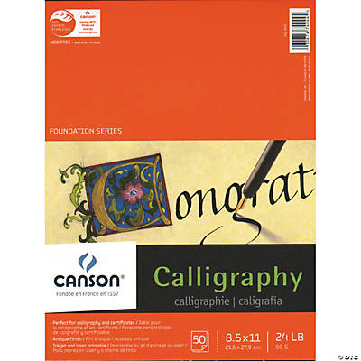Canson Calligraphy Parchment Calligraphy Supplies Art