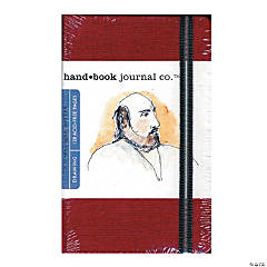 Red Travelogue Drawing Journal - Portrait
