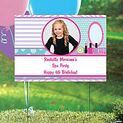 Spa Party Custom Photo Yard Sign