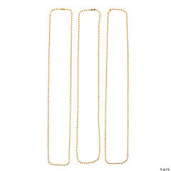 Goldtone Bead Chain Necklaces