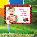 Ladybug Custom Photo Yard Sign