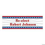 Large Personalized Stars & Stripes Banner