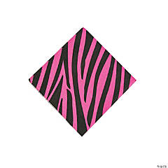 Hot Pink Zebra Beverage Napkins