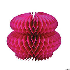 Hot Pink Honeycomb Tissue Centerpiece