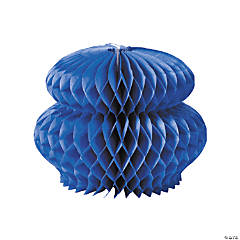 Blue Honeycomb Tissue Decorations