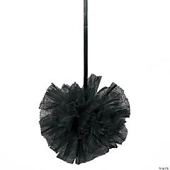 Black Tulle Pom-Pom Decorations