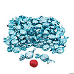 Light Blue Foil-Wrapped Hard Candy