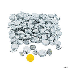 Silver Foil-Wrapped Hard Candy