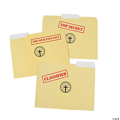 Top Secret Agents of Truth VBS File Folders