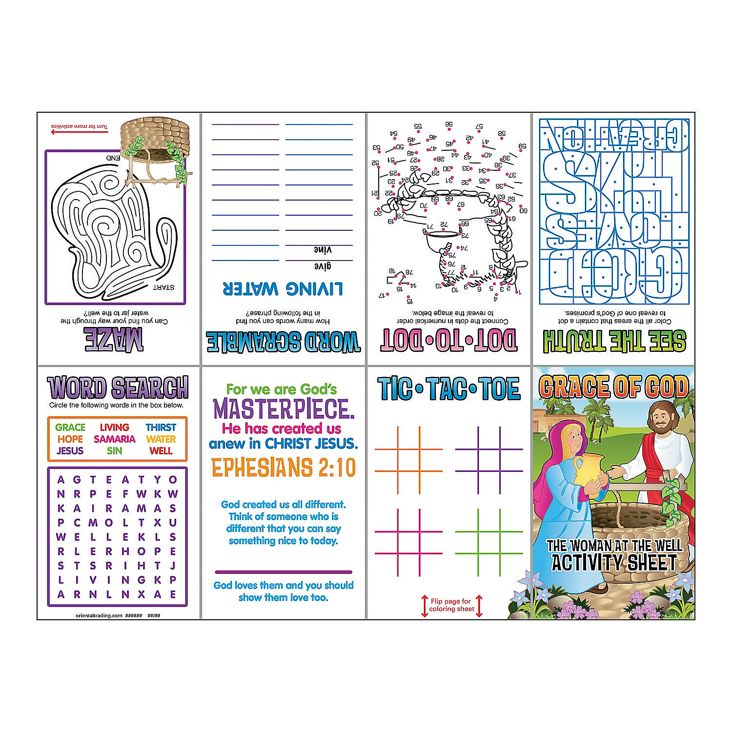 coloring page jesus and the samaritan woman collections