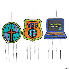 Color Your Own Agents of Truth VBS Windchimes