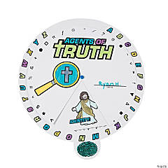 Color Your Own Agents of Truth VBS Wheels