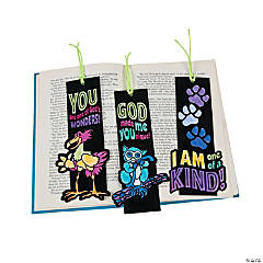 Color Your Own Wild Wonders Fuzzy VBS Bookmarks
