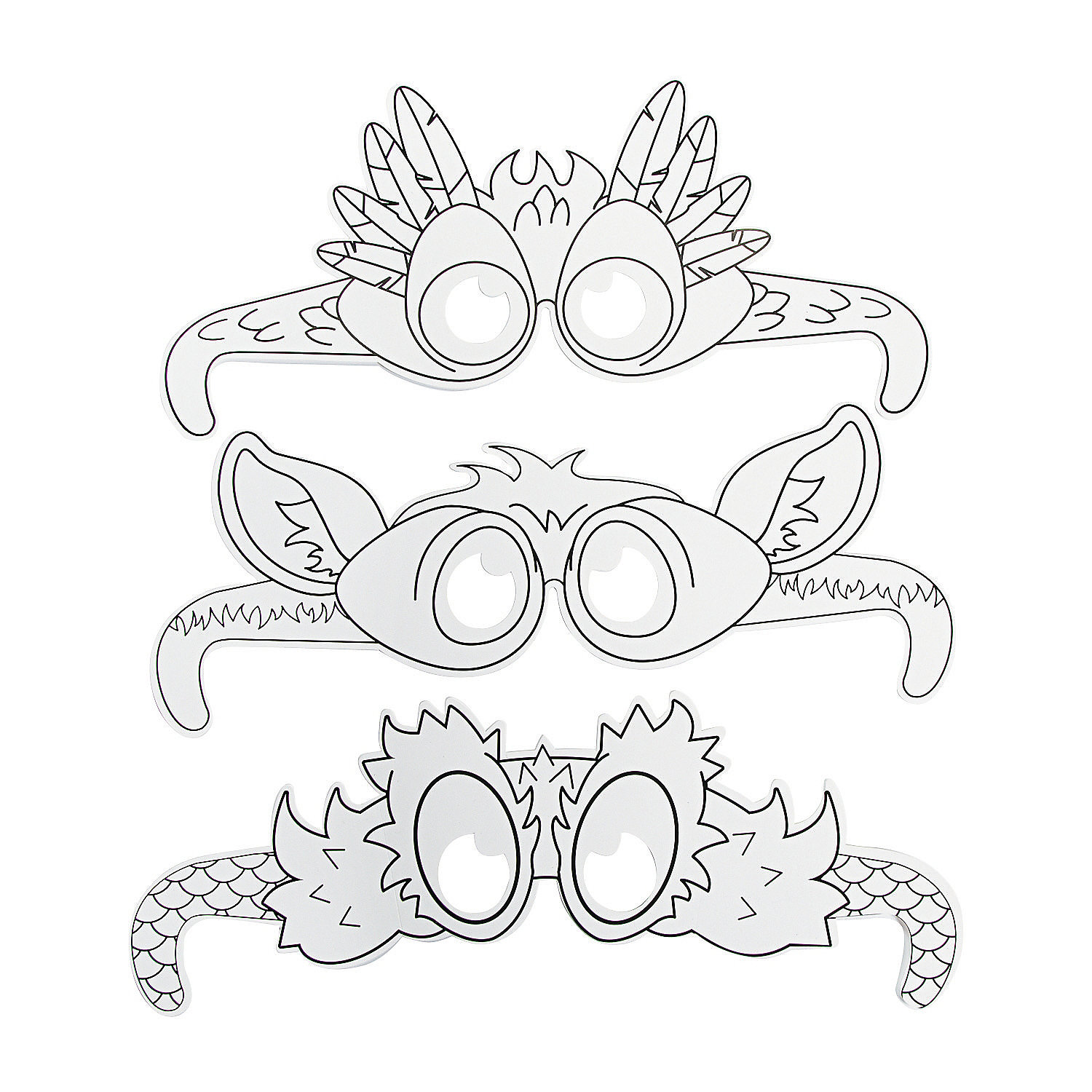 Color Your Own Wild Wonders VBS Animal Glasses, Coloring