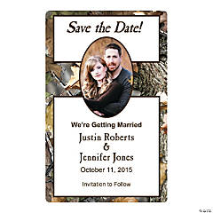 Camouflage Save the Date Custom Photo Magnets