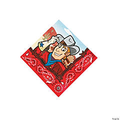 Paper Western Party Beverage Napkins